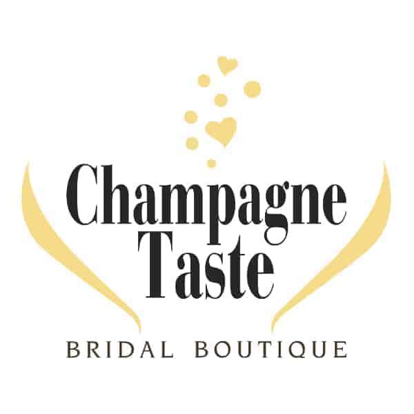 champagne taste bridal logo