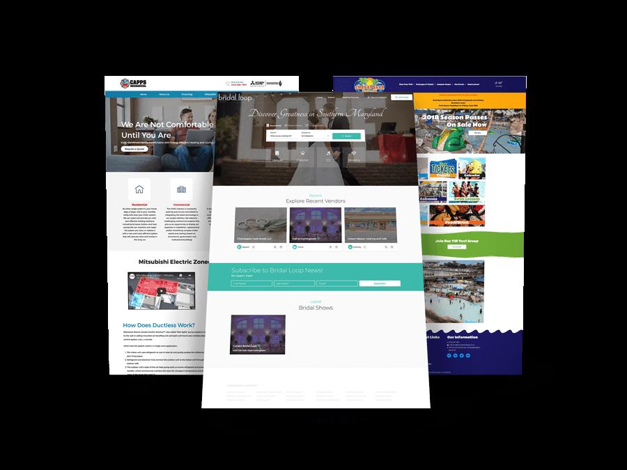 website mockups desktop